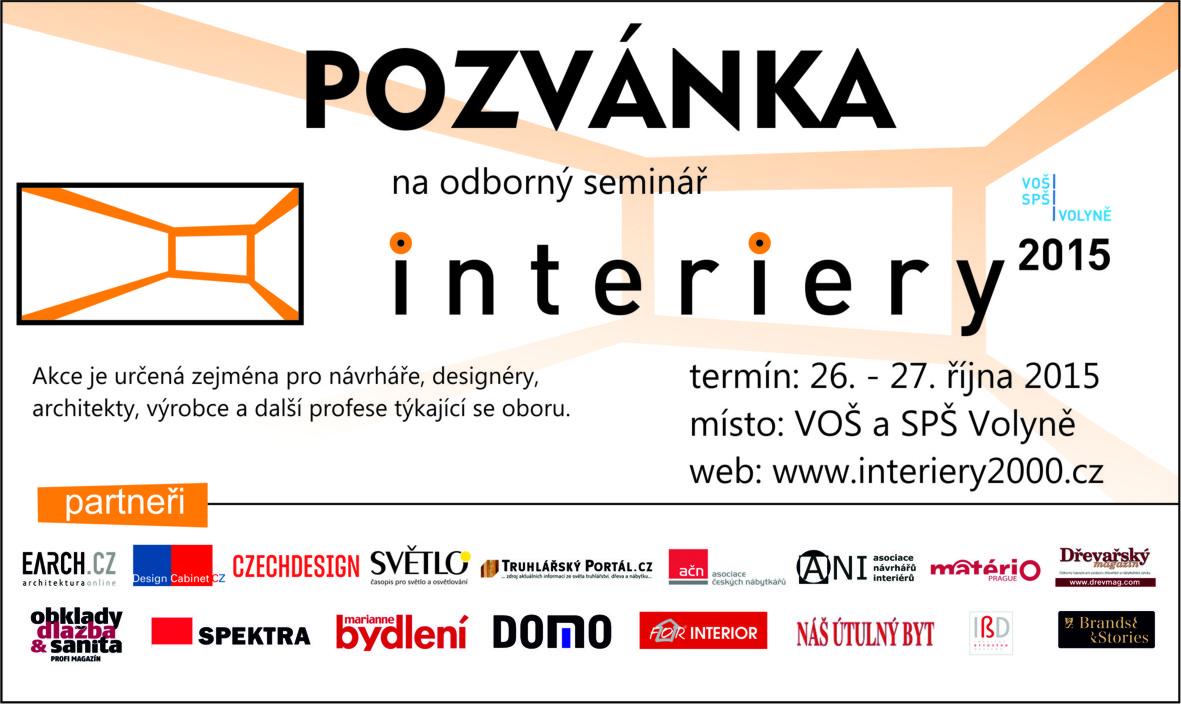 pozvanka Interiery 2015 Volyne