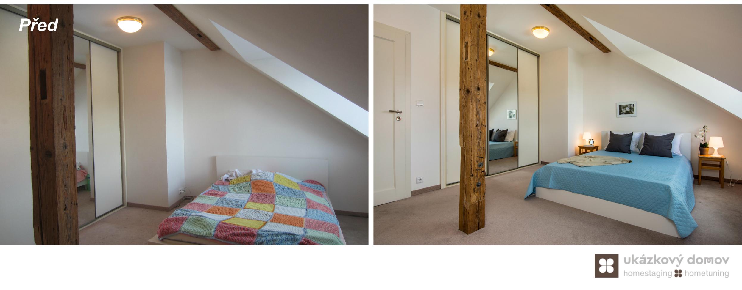 Home Staging Bedroom Prague Before & After