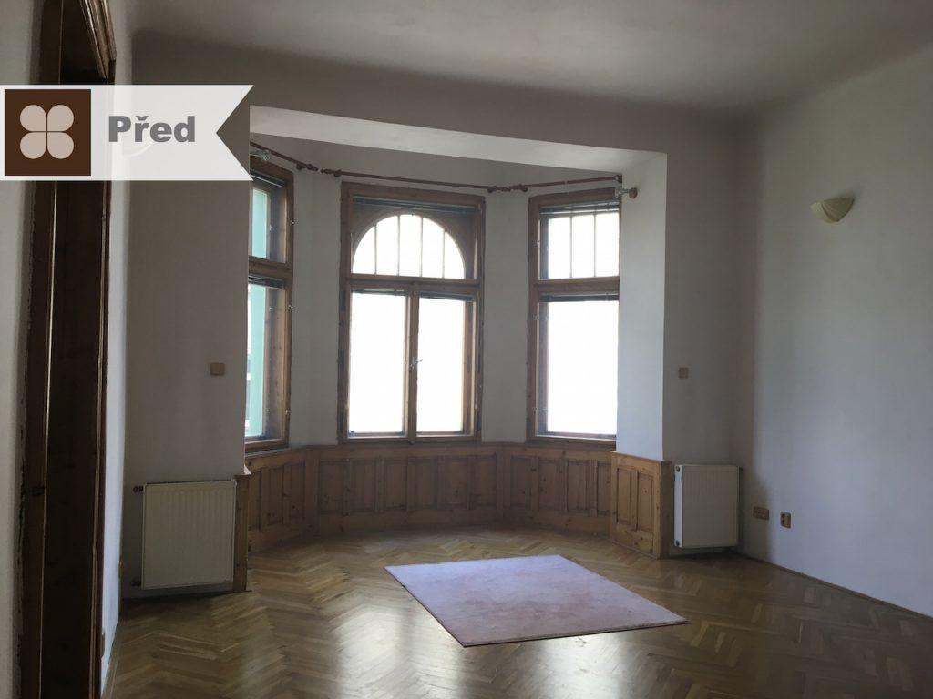 cz, czech republic, byt, secesní, arkýř, obývací pokoj
